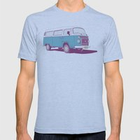 VW Combi v.02 Mens Fitted Tee Athletic Blue SMALL