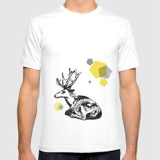 simply deer SMALL White Mens Fitted Tee