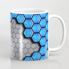 Blue Metallic Scale Mug
