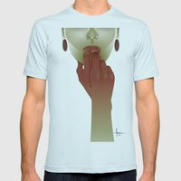APERITIF II Mens Fitted Tee Light Blue SMALL
