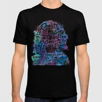 Lennon Reality Mens Fitted Tee Black SMALL