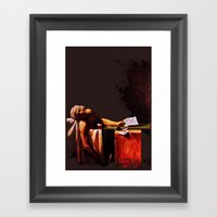The Death Of Marrat Framed Art Print