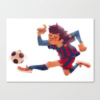Lionel Messi, Barcelona Jersey Canvas Print