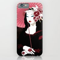 iPhone & iPod Case featuring Mona Geisha Lisa by DesignDinamique