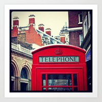 'LONDON PHONE BOX' Art Print