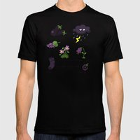 Colors: purple (Los colores: morado) Mens Fitted Tee Black SMALL