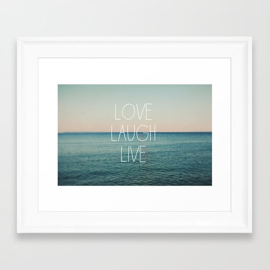 Love Laugh Live #2 Framed Art Print