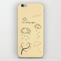 Raining iPhone & iPod Skin
