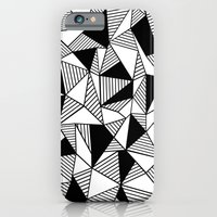 iPhone & iPod Case featuring Ab Lines with Black Blocks by Project M