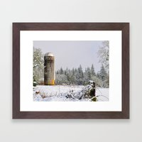 Remnants of a Simpler Time - The Silo Framed Art Print