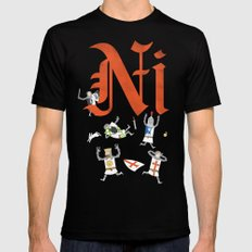Ni! MEDIUM Black Mens Fitted Tee