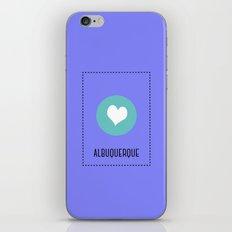 I Love Albuquerque iPhone & iPod Skin
