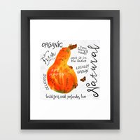 Watercolor pumpkin Framed Art Print