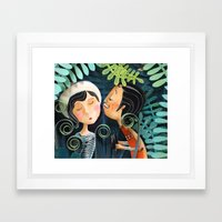 Kiss Good Night Framed Art Print