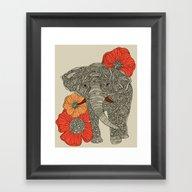 The Elephant Framed Art Print