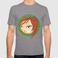 Ms Peacock Mens Fitted Tee Tri-Grey SMALL