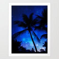 Cosmic Palms Art Print
