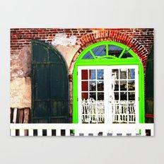 Green Window in Apalach Canvas Print