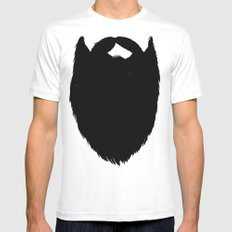 Fake Beard SMALL White Mens Fitted Tee