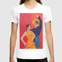 Jose Y Lola Womens Fitted Tee White SMALL