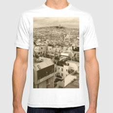 Rooftops of Paris 3 Mens Fitted Tee SMALL White