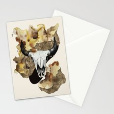Buffalo Skull by carographic Stationery Cards