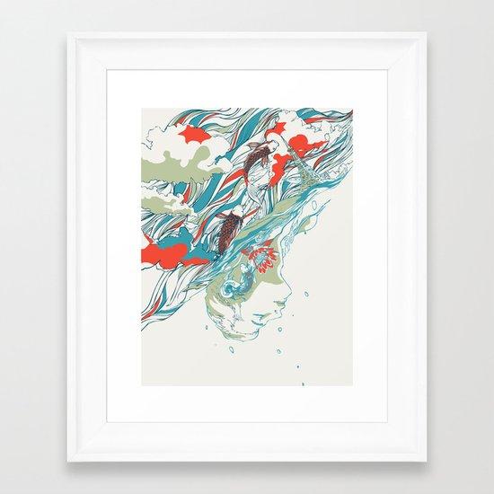 Colours In The Sky Framed Art Print
