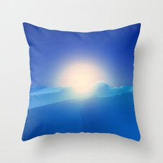 Ice Cold Blue Throw Pillow