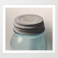 Vintage Mason Jar 2 Art Print