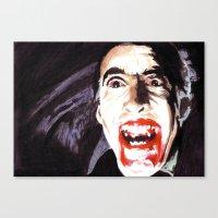 The Horror Of Dracula Canvas Print