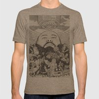 ACTION BRONSON Mens Fitted Tee Tri-Coffee SMALL