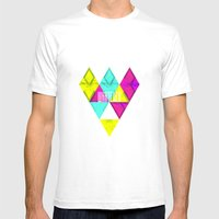 Paper Triangles ▵WHATE… Mens Fitted Tee White SMALL