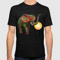 Elephant's Dream Mens Fitted Tee Tri-Black SMALL