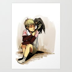 The Boy and The Falcon Art Print