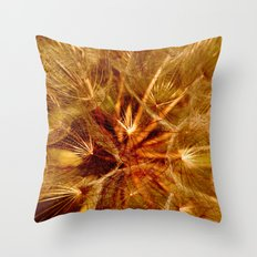 Dandelion Clock Throw Pillow