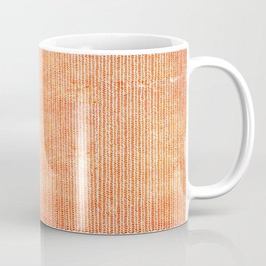 Stockinette Orange Mug