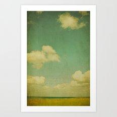 sky beach dyke Art Print