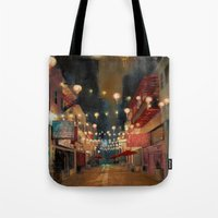 Lights on Chung King Tote Bag