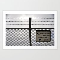 Barbed wire love Art Print