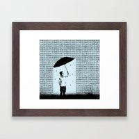Ones & Zeros Framed Art Print