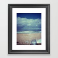 Tura Beach, Polaroid Framed Art Print