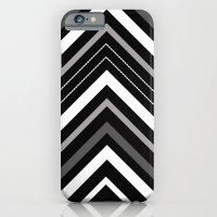 Black And White Chevron iPhone 6 Slim Case