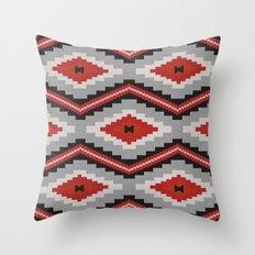 Navajo red Throw Pillow