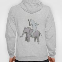 Shark with a Shotgun and the Elephant Hoody