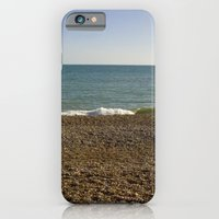 Evening Tide on a cobbled beach iPhone 6 Slim Case