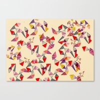 watercolour geometric shapes Canvas Print