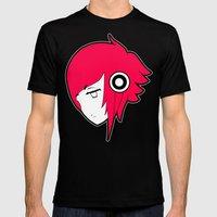 Animephones Mens Fitted Tee Black SMALL