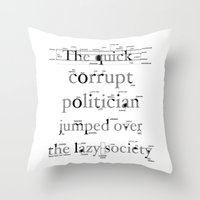 The Quick Corrupt Throw Pillow