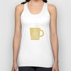 Take Comfort in Rituals. Coffee. Unisex Tank Top