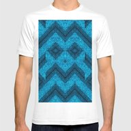 Blue Mask Mens Fitted Tee White SMALL